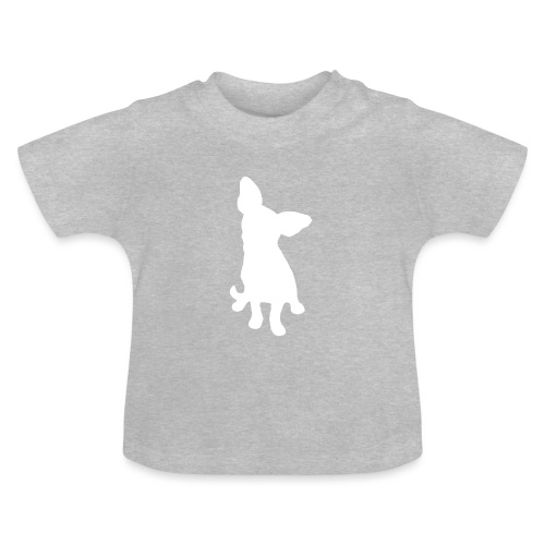 Chihuahua istuva valkoinen - Vauvan t-paita