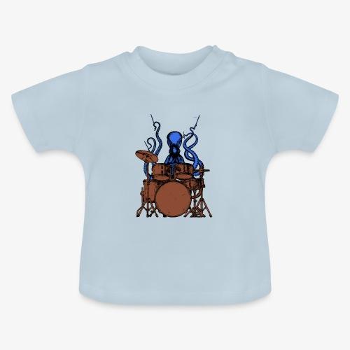 Oktopus spielt Schlagzeug - Baby T-Shirt