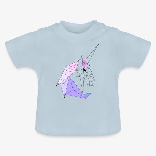 Einhorn geometrie unicorn - Baby T-Shirt