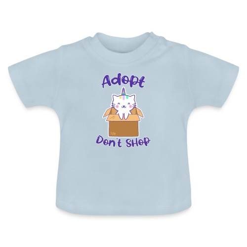 Adopt dont shop Tierheim Kinder Katzen Kitten - Baby T-Shirt