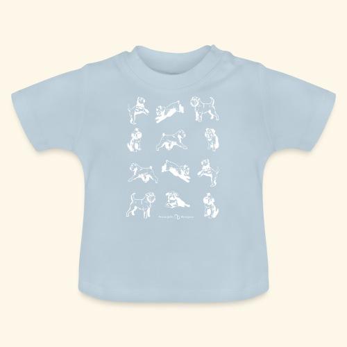 Brussel Griffon Pattern white - T-shirt Bébé