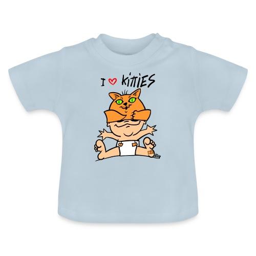 baby i love kitties color - Baby T-shirt