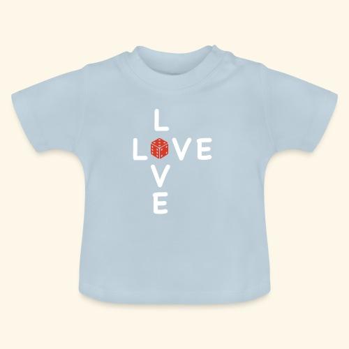 LOVE Cross white wuerfel red 001 - Baby T-Shirt