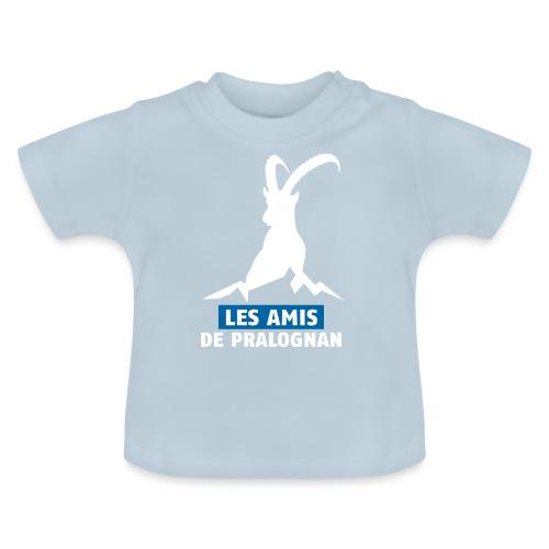 Logo Les Amis de Pralo grand blanc - T-shirt Bébé