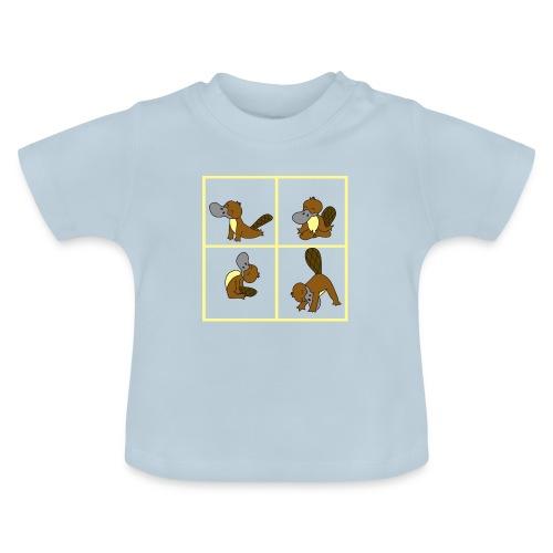 ornithorynque fait du yoga - T-shirt Bébé