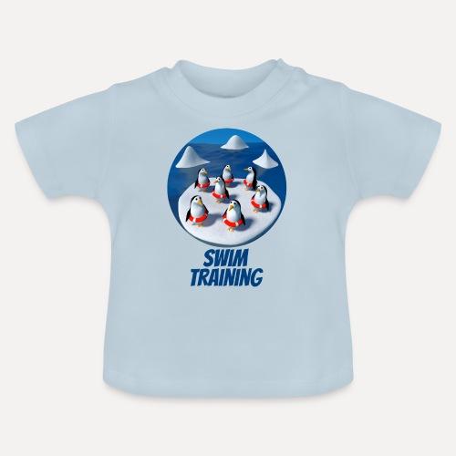 Pinguine beim Schwimmunterricht - Baby T-Shirt
