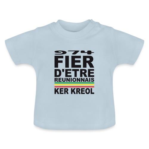 974 Fier d'être Réunionnais - 974 Ker Kreol v1.2 - T-shirt Bébé