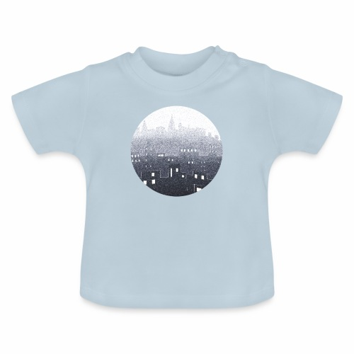 city hall snow blue - T-shirt Bébé