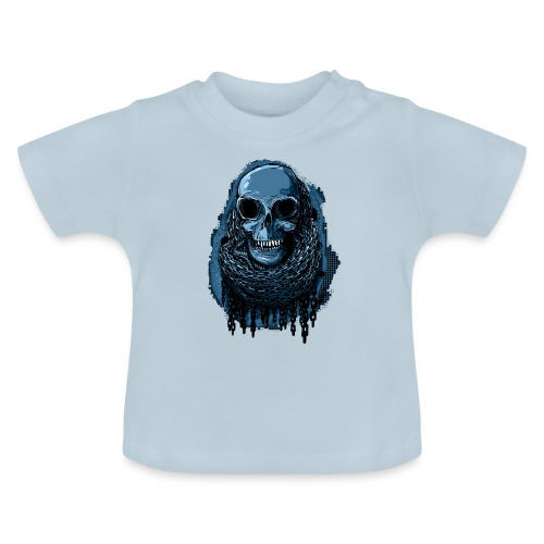 SKULL in CHAINS - deepBlue - Baby T-Shirt