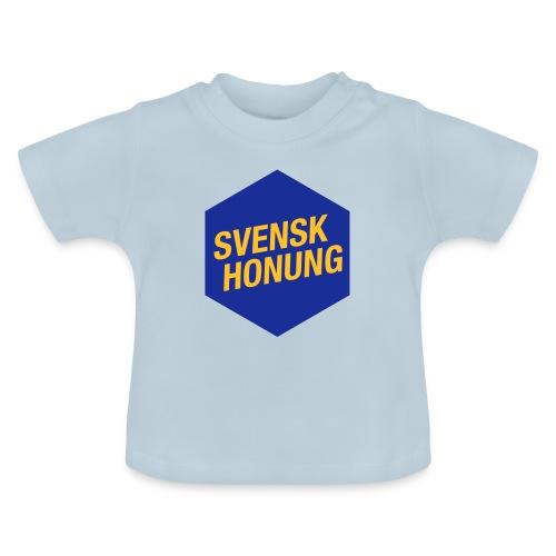 Svensk honung Hexagon Blå/Gul - Baby-T-shirt