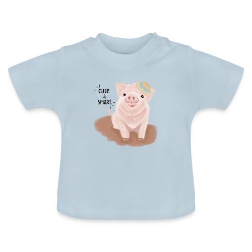 Cute & Smart Pig - Baby T-Shirt