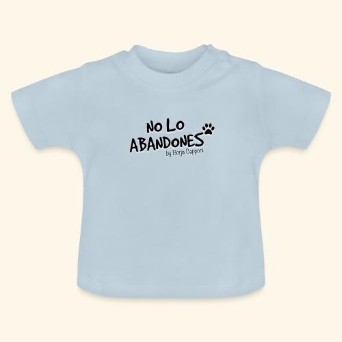 noloabandones negro - Camiseta bebé
