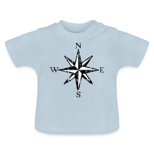 Windrose Segel Segeln Segler Vintage Schwarz-Weiß - Baby T-Shirt