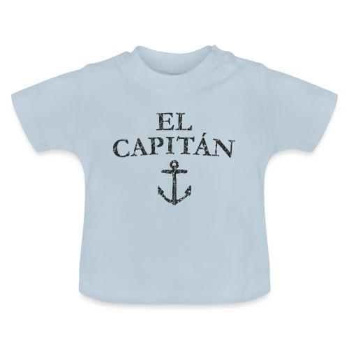 El Capitan Anker (Vintage Schwarz) Käpt'n Segeln - Baby T-Shirt