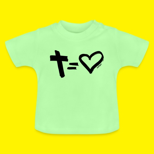 Cross = Heart BLACK - Baby T-Shirt