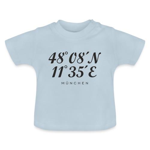 Münchener Koordinaten (Schwarz) München - Baby T-Shirt