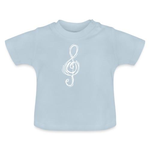 Violinschlüssel weiß - Baby T-Shirt