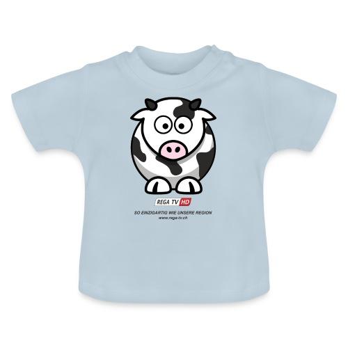 REGA-TV: Kuh, schwarzer Text - Baby T-Shirt