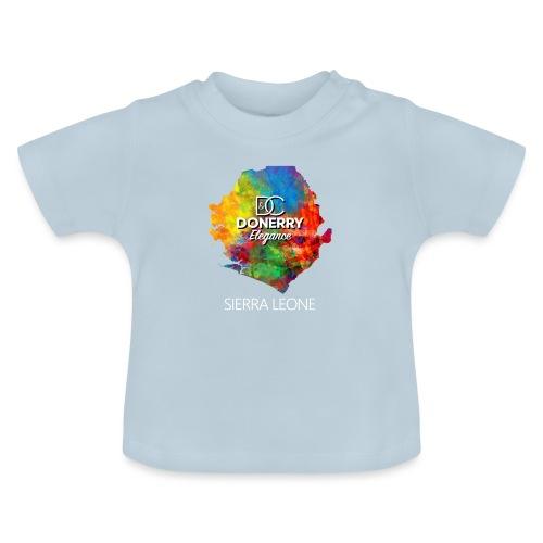 Sierra Leone Colourful Map Dark - Baby T-Shirt