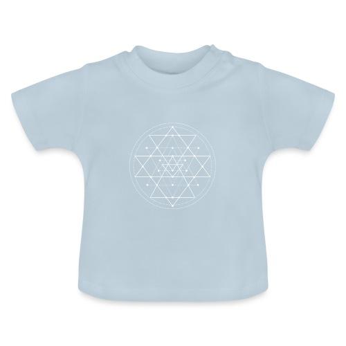 Valkoinen geometrinen Shri Yantra -kuvio - Vauvan t-paita