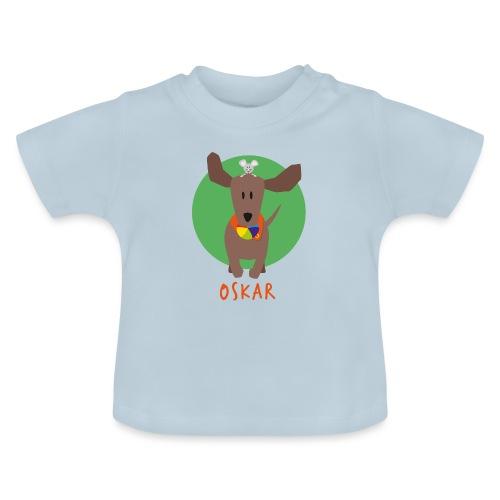 Dackel Oskar mit Maus Fridolin - Baby T-Shirt