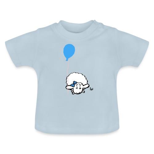 Baby Lamm mit Ballon (blau) - Baby T-Shirt