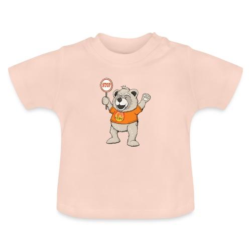 FUPO der Bär. Druckfarbe bunt - Baby T-Shirt