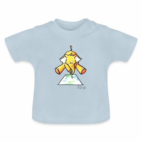 Ellafant malt Klangbild mit Stift - Baby T-Shirt