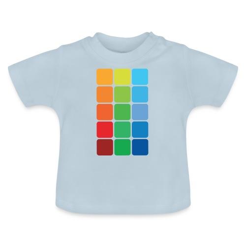 Kvadratisk farve - Baby T-shirt