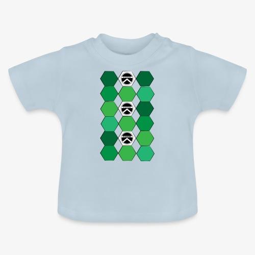 |K·CLOTHES| HEXAGON ESSENCE GREENS & WHITE - Camiseta bebé