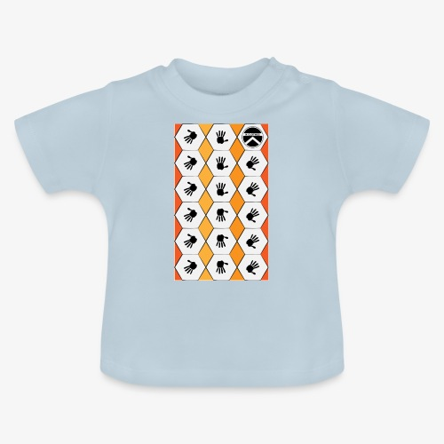 |K·CLOTHES| HEXAGON ESSENCE ORANGES & WHITE - Camiseta bebé