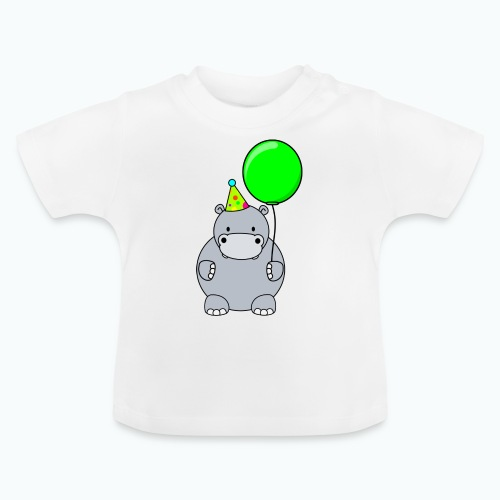 Henri Hippo Party - Appelsin - Baby-T-shirt