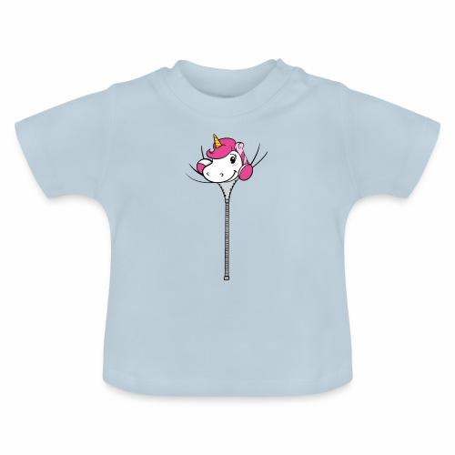 Nina-Nice Zipper Unicorn - Baby T-Shirt