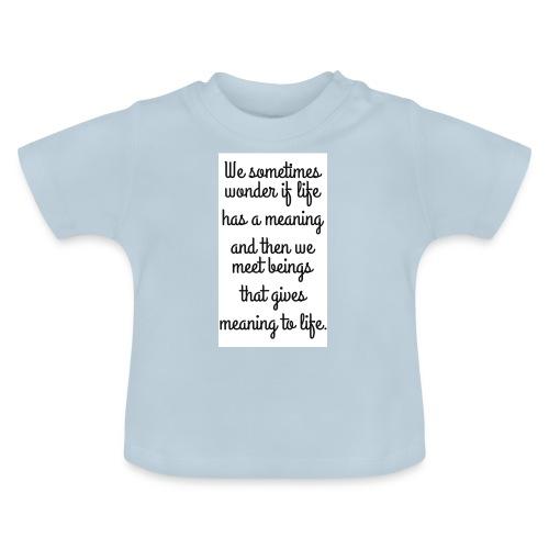 Phrase d'amour en anglais - T-shirt Bébé