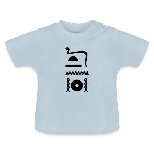 Hieroglyphen: djet-neheh (ewiglich, in Ewigkeit) - Baby T-Shirt