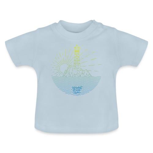 Leuchtturm mit Sonne am Meer - Baby T-Shirt