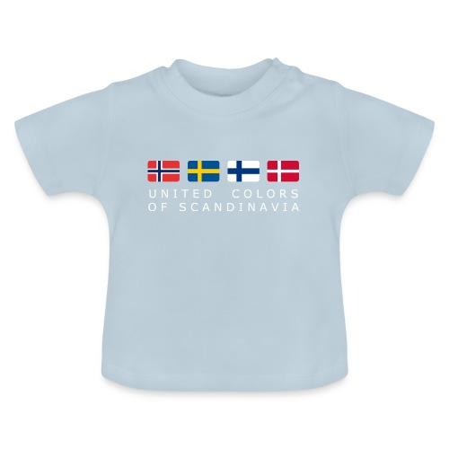 UNITED COLORS OF SCANDINAVIA white-lettered - Baby T-Shirt