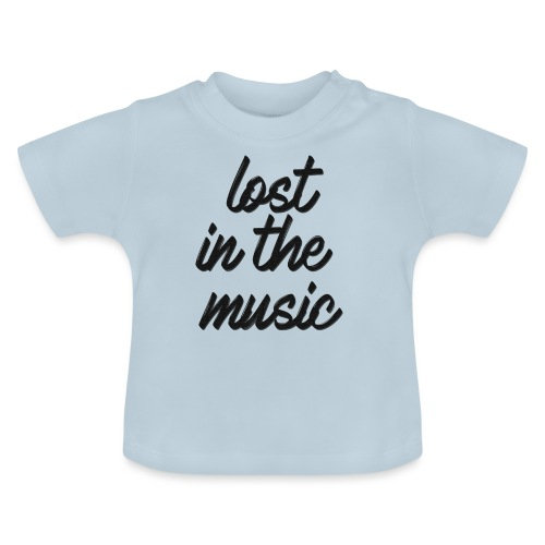 lost in the music black - T-shirt Bébé