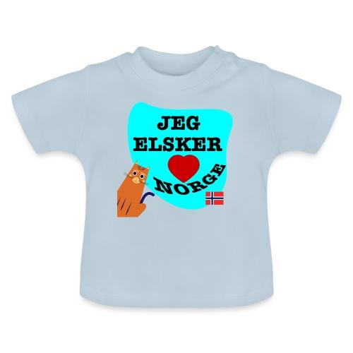 Jeg elsker Norge - Baby-T-skjorte