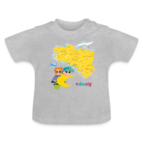 Carte de la Bretagne Dousig - T-shirt Bébé