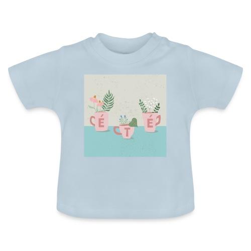 fleurs d'été - Maglietta per neonato