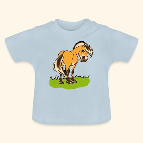 Freundliches Fjordpferd (Ohne Text) Weisse Umrisse - T-shirt Bébé