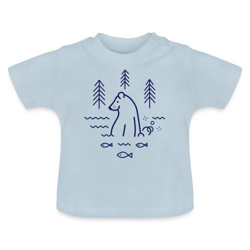 ours qui péte dans l'eau - T-shirt Bébé