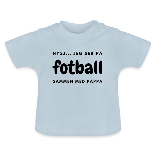 Fotballinteressert pappa / småbarnsforeldre - Baby-T-skjorte