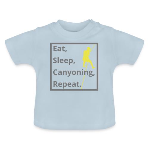 eat sleep canyoning repeat - Baby T-Shirt