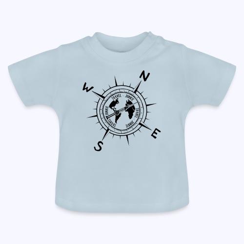 traveljunkie black - Baby T-Shirt