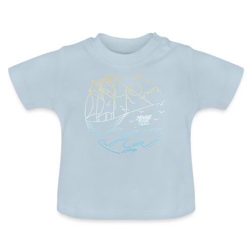 Schiff mit Sonne und Meer - Baby T-Shirt