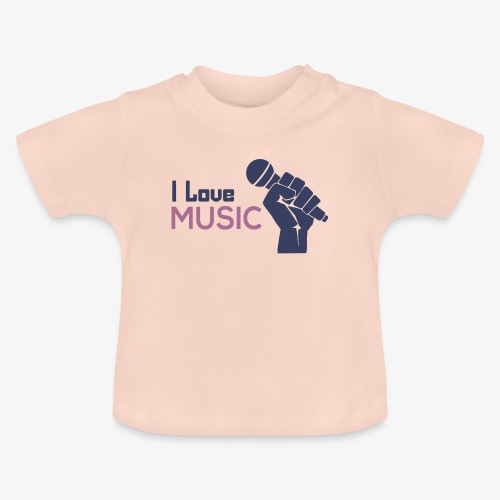 Amo la música - Camiseta bebé