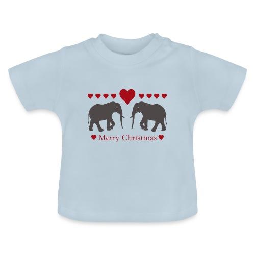 Afrika - Elefant - Weihnachten - Liebe - Baby T-Shirt