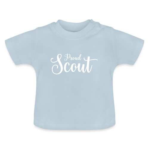 Proud Scout Lettering White - Baby T-Shirt